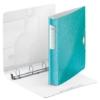 """Kép 3/8 - Gyűrűs könyv, 4 gyűrű, D alakú, 52 mm, A4, PP, LEITZ """"Active Wow"""" jégkék"""
