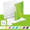 """Kép 2/8 - Gyűrűs könyv, 4 gyűrű, D alakú, 52 mm, A4, PP, LEITZ """"Active Wow"""", zöld"""