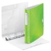 """Kép 3/8 - Gyűrűs könyv, 4 gyűrű, D alakú, 52 mm, A4, PP, LEITZ """"Active Wow"""", zöld"""
