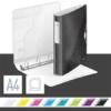 """Kép 2/8 - Gyűrűs könyv, 4 gyűrű, D alakú, 52 mm, A4, PP, LEITZ """"Active Wow"""", fekete"""