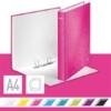 """Kép 2/8 - Gyűrűs könyv, 2 gyűrű, D alakú, 40 mm, A4 Maxi, karton, LEITZ """"Wow"""", rózsaszín"""