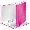 """Kép 3/8 - Gyűrűs könyv, 2 gyűrű, D alakú, 40 mm, A4 Maxi, karton, LEITZ """"Wow"""", rózsaszín"""