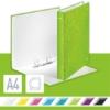 """Kép 2/8 - Gyűrűs könyv, 2 gyűrű, D alakú, 40 mm, A4 Maxi, karton, LEITZ """"Wow"""", zöld"""