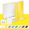 """Kép 2/8 - Gyűrűs könyv, 4 gyűrű, D alakú, 40 mm, A4 Maxi, karton, LEITZ """"Wow"""", sárga"""
