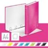 """Kép 2/8 - Gyűrűs könyv, 4 gyűrű, D alakú, 40 mm, A4 Maxi, karton, LEITZ """"Wow"""", rózsaszín"""
