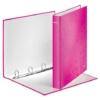 """Kép 3/8 - Gyűrűs könyv, 4 gyűrű, D alakú, 40 mm, A4 Maxi, karton, LEITZ """"Wow"""", rózsaszín"""