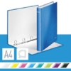 """Kép 2/8 - Gyűrűs könyv, 4 gyűrű, D alakú, 40 mm, A4 Maxi, karton, LEITZ """"Wow"""", kék"""