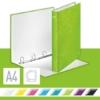 """Kép 2/8 - Gyűrűs könyv, 4 gyűrű, D alakú, 40 mm, A4 Maxi, karton, LEITZ """"Wow"""", zöld"""