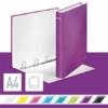 """Kép 2/8 - Gyűrűs könyv, 4 gyűrű, D alakú, 40 mm, A4 Maxi, karton, LEITZ """"Wow"""", lila"""