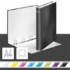 """Kép 2/8 - Gyűrűs könyv, 4 gyűrű, D alakú, 40 mm, A4 Maxi, karton, LEITZ """"Wow"""", fekete"""