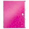 """Kép 1/8 - Előrendező, A4, 12 részes, műanyag, LEITZ """"Wow"""", rózsaszín"""