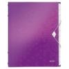 """Kép 1/8 - Előrendező, A4, 12 részes, műanyag, LEITZ """"Wow"""", lila"""