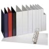 Kép 1/8 - Gyűrűs könyv, panorámás, 4 gyűrű, 25 mm, A4, PP, ESSELTE, fehér