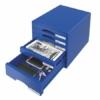"""Kép 2/8 - Irattároló, műanyag, 5 fiókos, LEITZ """"Plus"""", kék"""