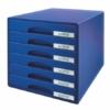 """Kép 1/8 - Irattároló, műanyag, 6 fiókos, LEITZ """"Plus"""", kék"""