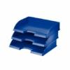 """Kép 1/8 - Irattálca, műanyag, oldalt nyitott, LEITZ """"Plus"""", kék"""