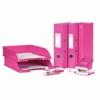 """Kép 2/8 - Irattálca, műanyag, LEITZ """"Wow"""", rózsaszín"""
