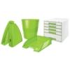 """Kép 2/8 - Irattálca, műanyag, LEITZ """"Wow"""", zöld"""