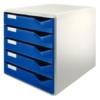 """Kép 1/8 - Irattároló, műanyag, 5 fiókos, LEITZ """"Standard"""", kék"""
