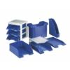 """Kép 3/8 - Irattálca, műanyag, 3 fiókos, LEITZ """"Plus"""", kék"""