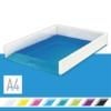 """Kép 2/8 - Irattálca, műanyag, kettős színhatású, LEITZ """"Wow"""", kék"""