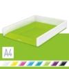 """Kép 2/8 - Irattálca, műanyag, kettős színhatású, LEITZ """"Wow"""", zöld"""