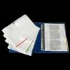 Kép 2/8 - Genotherm, lefűzhető, felül/oldalt félig nyitott, A4, 105 mikron, víztiszta, ESSELTE, piros
