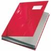 """Kép 1/8 - Aláírókönyv, A4, 18 részes, karton, LEITZ """"Design"""", piros"""