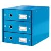 """Kép 1/8 - Irattároló, laminált karton, 3 fiókos, LEITZ """"Click&Store"""", kék"""