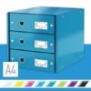 """Kép 2/8 - Irattároló, laminált karton, 3 fiókos, LEITZ """"Click&Store"""", kék"""