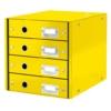 """Kép 1/8 - Irattároló, laminált karton, 4 fiókos, LEITZ """"Click&Store"""", sárga"""
