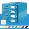 """Kép 2/8 - Irattároló, laminált karton, 4 fiókos, LEITZ """"Click&Store"""", kék"""