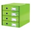 """Kép 1/8 - Irattároló, laminált karton, 4 fiókos, LEITZ """"Click&Store"""", zöld"""