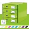 """Kép 2/8 - Irattároló, laminált karton, 4 fiókos, LEITZ """"Click&Store"""", zöld"""