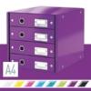"""Kép 2/8 - Irattároló, laminált karton, 4 fiókos, LEITZ """"Click&Store"""", lila"""