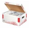 """Kép 2/8 - Archiváló konténer, S méret, újrahasznosított karton, ESSELTE """"Speedbox"""", fehér"""