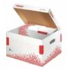 """Kép 2/8 - Archiváló konténer, M méret, újrahasznosított karton, ESSELTE """"Speedbox"""", fehér"""