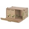 """Kép 2/8 - Archiváló konténer, újrahasznosított karton, előre nyíló, ESSELTE """"Eco"""", barna"""