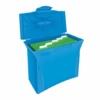 """Kép 2/8 - Függőmappa tároló, műanyag, 5 db függőmappával, mobil, ESSELTE """"Europost"""", Vivida kék"""