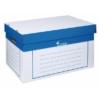 Kép 1/8 - Archiváló konténer, 320x460x270 mm, karton, VICTORIA, kék-fehér
