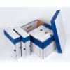Kép 2/8 - Archiváló konténer, 320x460x270 mm, karton, VICTORIA, kék-fehér