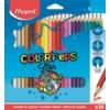 """Kép 1/8 - Színes ceruza készlet, háromszögletű, MAPED """"Color`Peps"""", 24 különböző szín"""