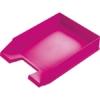 """Kép 1/8 - Irattálca, műanyag, HELIT """"Economy"""", rózsaszín"""