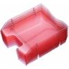 """Kép 1/8 - Irattálca, műanyag, törhetetlen, HELIT """"Nestable Green Logic"""", áttetsző piros"""