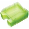 """Kép 1/8 - Irattálca, műanyag, törhetetlen, HELIT """"Nestable Green Logic"""", áttetsző zöld"""