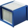 Kép 1/8 - Függőmappa tároló, műanyag, HELIT, kék