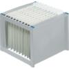 Kép 1/8 - Függőmappa tároló, műanyag, HELIT, világosszürke-kék