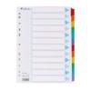 Kép 1/8 - Regiszter, karton, A4, 12 részes, írható előlappal, VICTORIA, színes