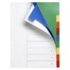 Kép 2/8 - Regiszter, műanyag, A4, 10 részes, VICTORIA, színes