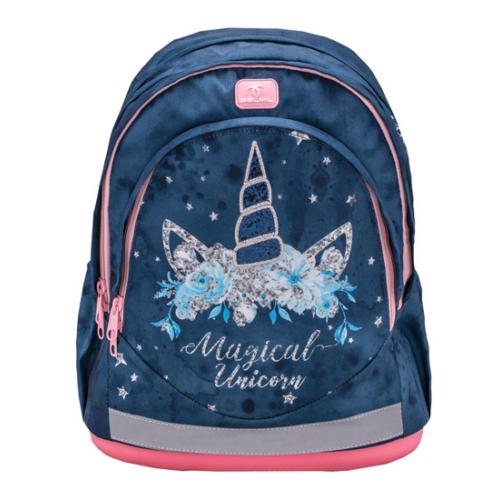 Belmil Leisure anatómiai iskolatáska, hátizsák Blue magical unicorn
